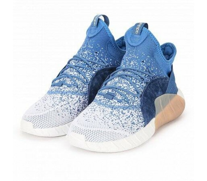 Кроссовки Adidas Originals TUBULAR RISE PRIMEKNIT (Цвет White-Blue)