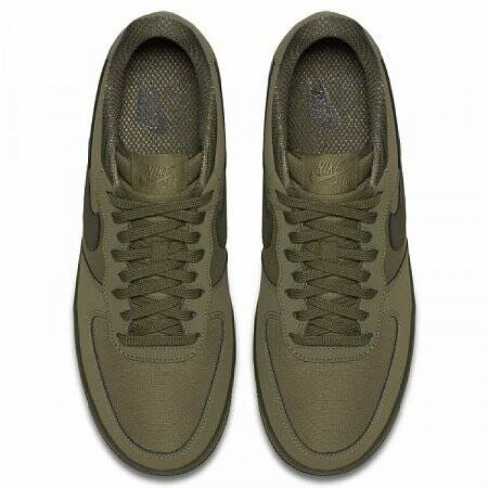 Кроссовки Nike AIR FORCE 1 '07 TEXTILE (Цвет Medium Olive-Sequoia)