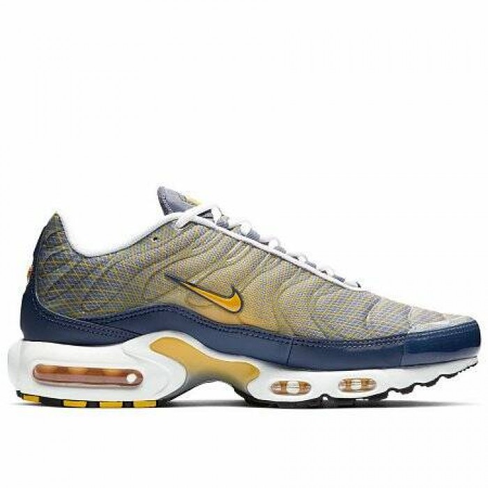 Кроссовки Nike AIR MAX PLUS OG (Цвет Steel-Spun Yellow-White-Black)