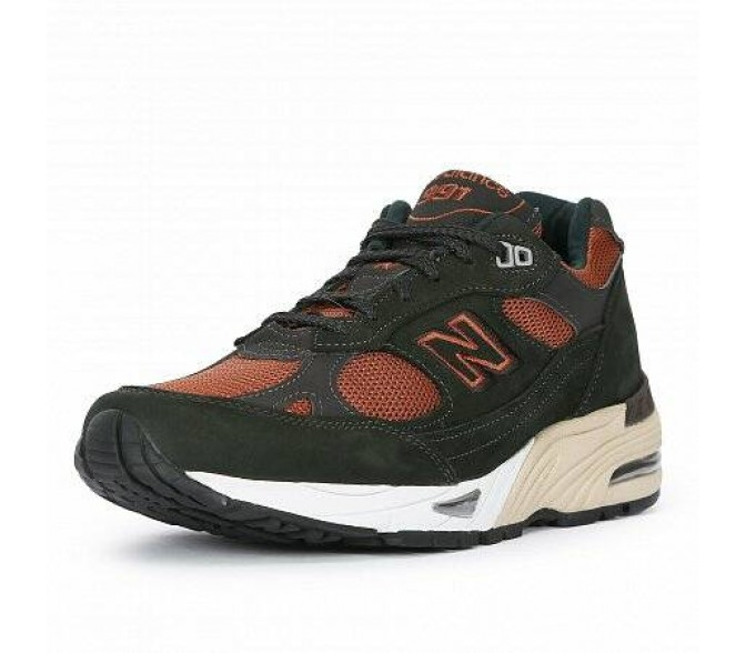 Кроссовки New Balance 991 MADE IN UK (Цвет Olive)