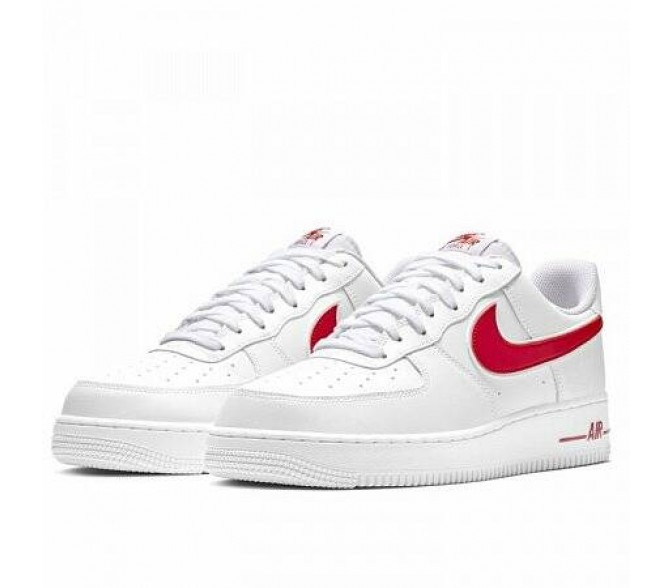 Кроссовки Nike AIR FORCE 1 '07 3 (Цвет White-Gym Red)