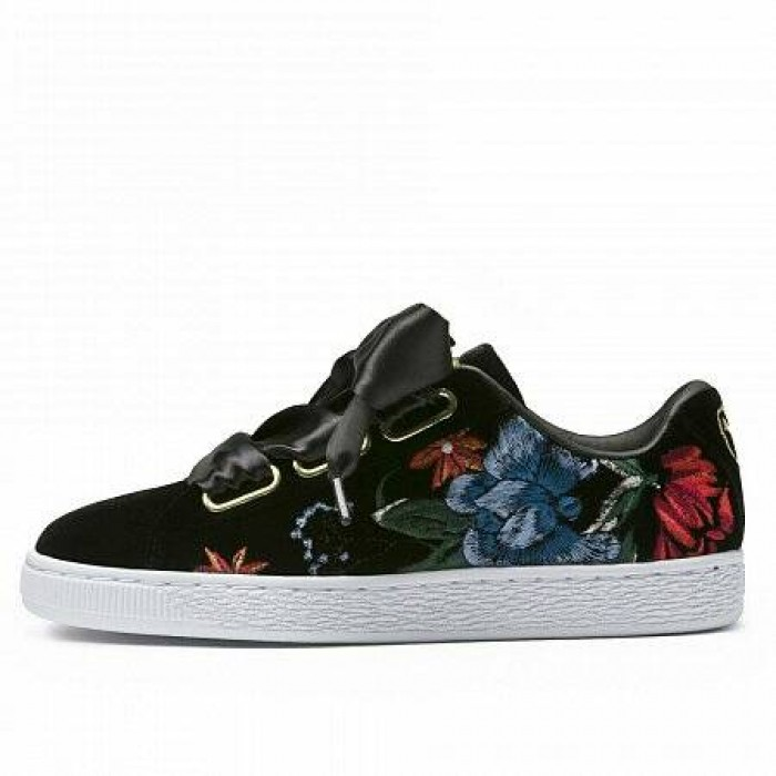Кроссовки Puma BASKET HEART HYPER EMBROIDERY (Цвет Black)