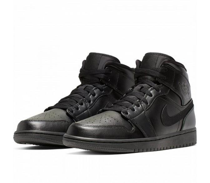 Кроссовки Jordan AIR JORDAN 1 MID (Цвет Black-Black-Black)
