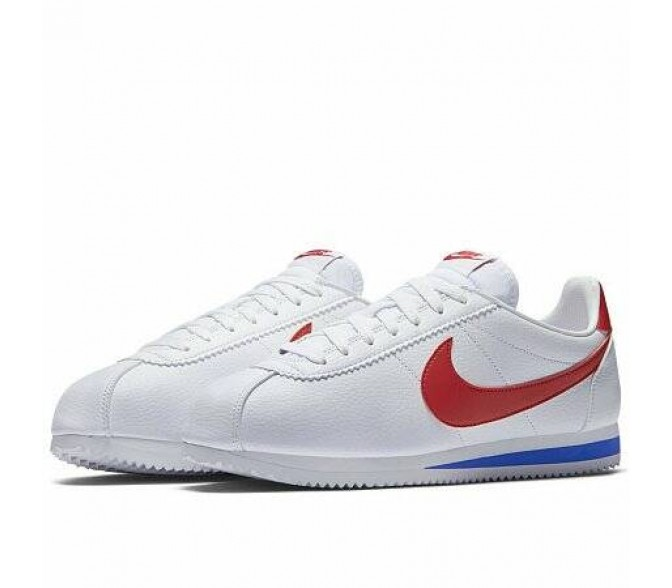 Кроссовки Nike CLASSIC CORTEZ LEATHER (Цвет White-Red-Blue)