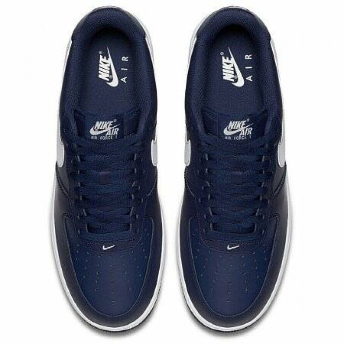 Кроссовки Nike AIR FORCE 1 (Цвет Midnight Navy-White)