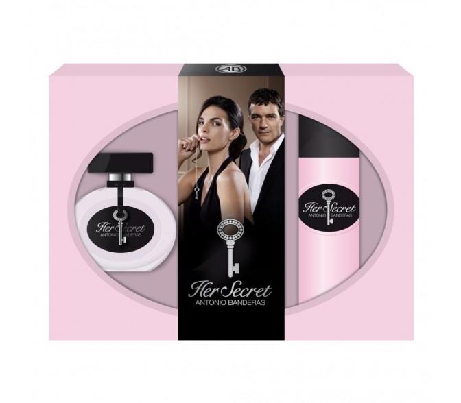 Подарочный набор Antonio Banderas Her Secret (L) set (50ml edt+deo 150ml)