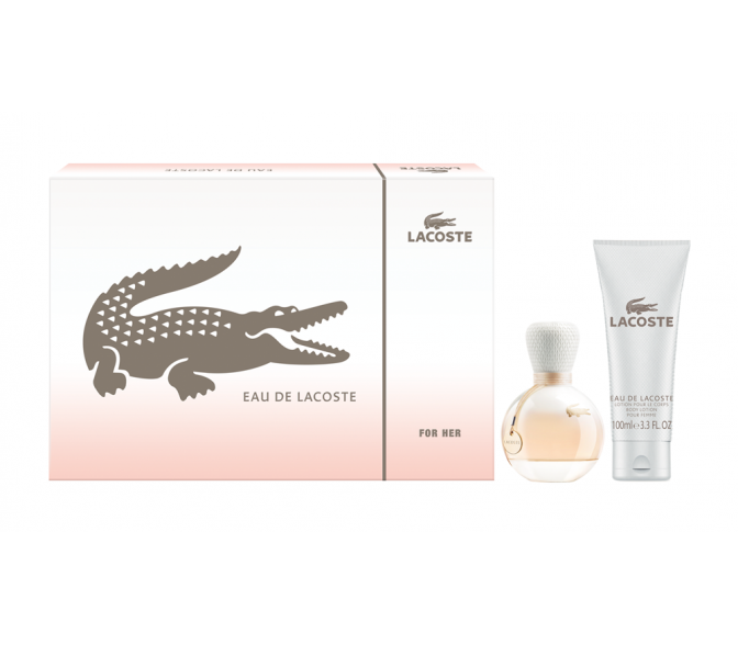 Подарочный набор Lacoste Eau De Lacoste (L) set (50ml edp+100ml b/l)