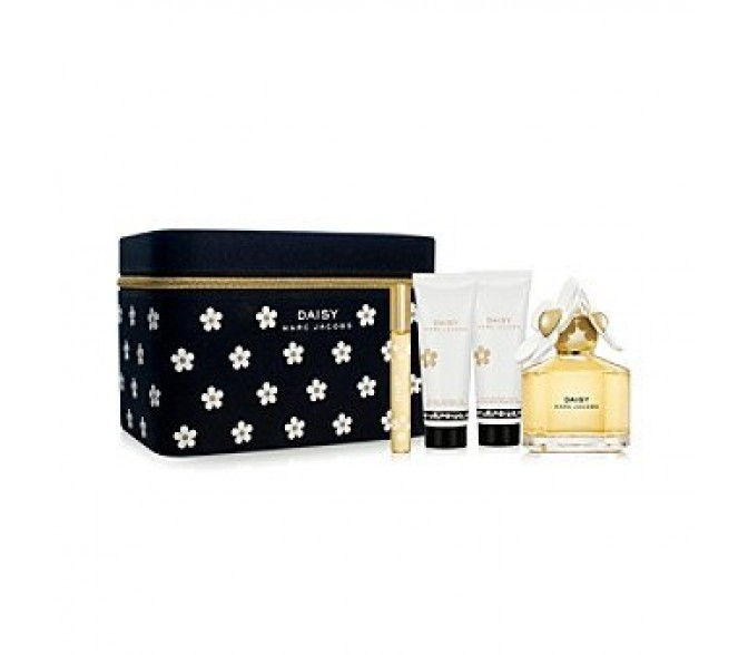 Подарочный набор Marc Jacobs  Daisy (L) set ( 100ml edt+6ml roller+75ml b/l+75ml s/g) в сумочке