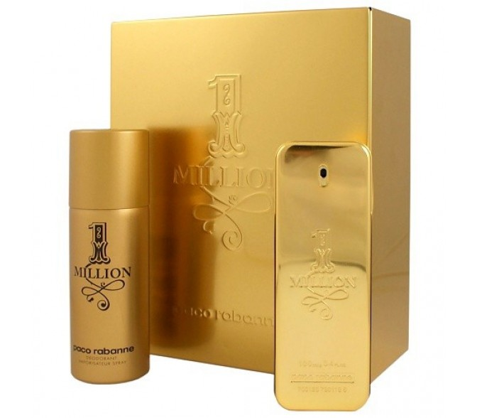 Подарочный набор Paco Rabanne  1 Million (M) set (100ml edt+deo 150ml)