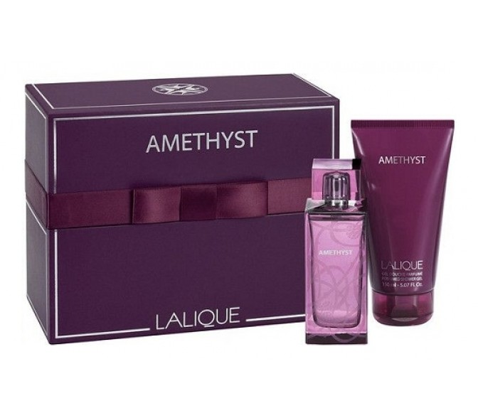 Подарочный набор Lalique AMETHYST (L) set (100ml edp+100 g/d)