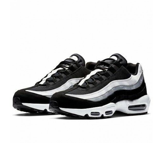 Кроссовки Nike AIR MAX 95 ESSENTIAL (Цвет Black-White-Wolf Grey)