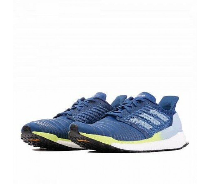 Кроссовки Adidas Performance SOLARBOOST (Цвет Legend Marine-Ash Grey-Hi-Res Yellow)