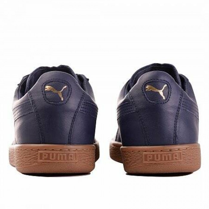 Кроссовки Puma BASKET CLASSIC GUM DELUXE (ЦВЕТ PEACOAT-METALL)