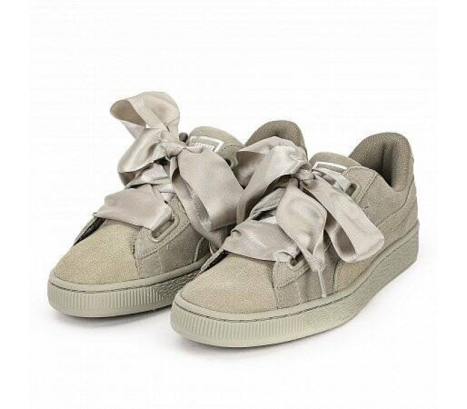 Кроссовки Puma SUEDE HEART PEBBLE ROCK RIDGE (Цвет Beige)