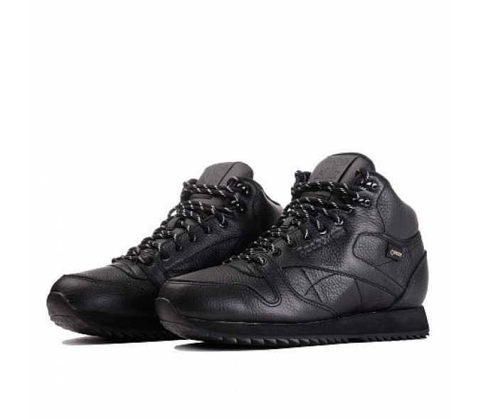 Ботинки Reebok Classic CLASSIC LEATHER MID RIPPLE (Цвет Black)