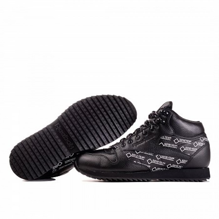 Кроссовки Reebok Classic CLASSIC LEATHER MID RIPPLE GORE-TEX (Цвет Black-White)