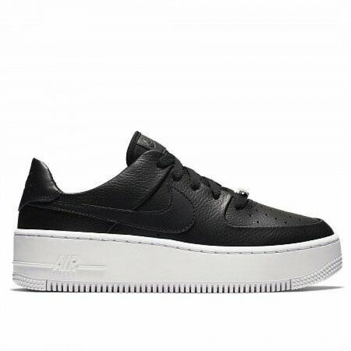 Кроссовки Nike AIR FORCE 1 SAGE LOW (Цвет Black-Black-White)