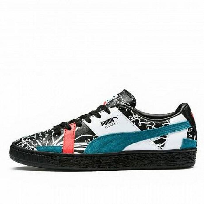 Кроссовки Puma BASKET GRAPHIC SHANTELL MARTIN (Цвет Black-Dragonely)