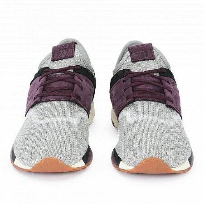 Кроссовки New Balance 247 (Цвет Gray-Purple-Black-White)