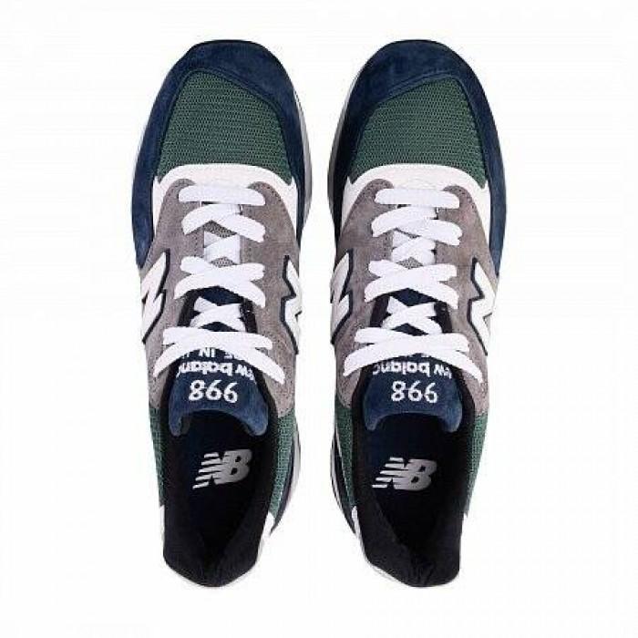 Кроссовки New Balance 998 (Цвет Blue-White-Green)