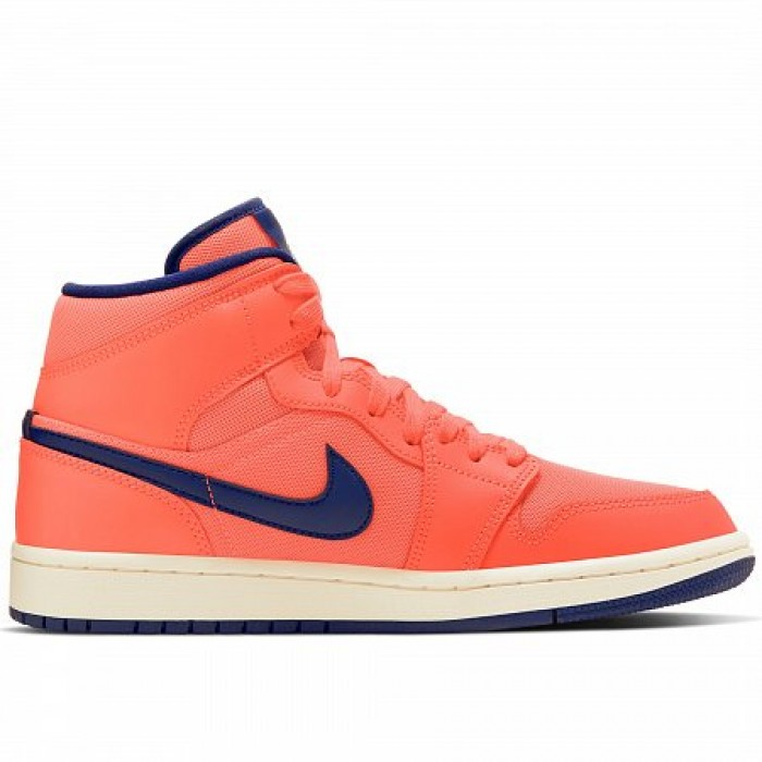 Кроссовки Jordan AIR JORDAN 1 MID (Цвет Turf Orange-Blue Void-Light Cream)