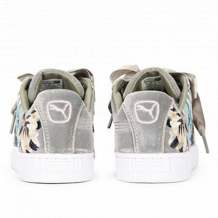 Кроссовки Puma BASKET HEART HYPER EMB ROCK RIDGE (Цвет Gray)