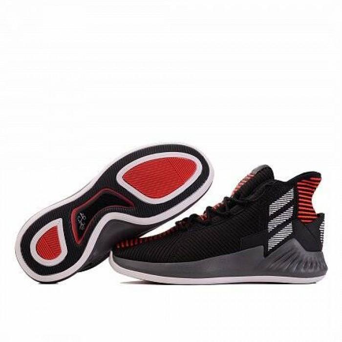 Кроссовки Adidas Originals D ROSE 9 (Цвет Core Black-White-Scarlet)