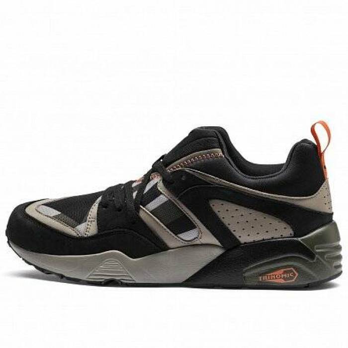 Кроссовки Puma BLAZE OF GLORY CAMO (Цвет Forest Night-Black-Elephant)