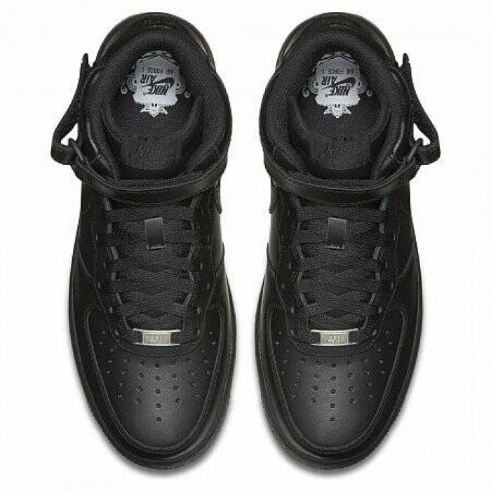 Кроссовки Nike AIR FORCE 1 MID 1'07 (Цвет Black)