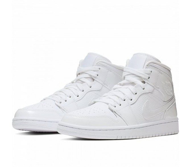 Кроссовки Jordan AIR JORDAN 1 MID (Цвет White-White-White)