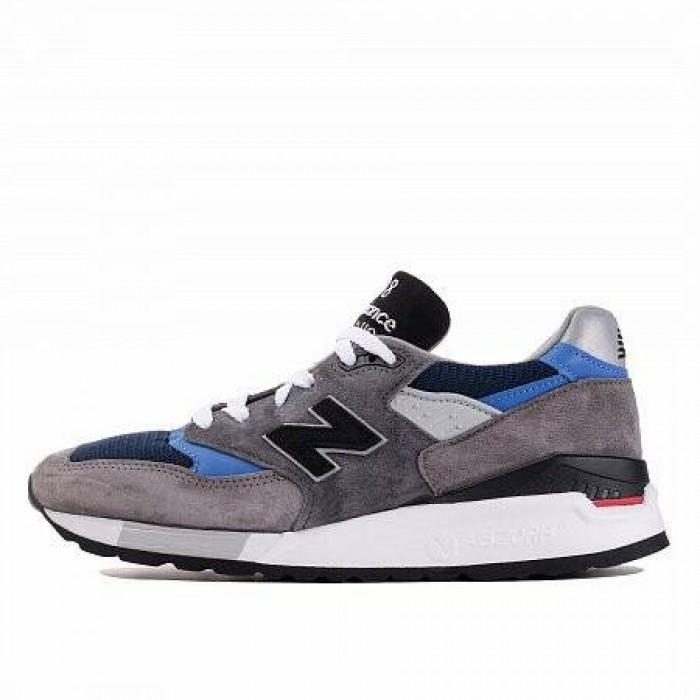 Кроссовки New Balance 998 (Цвет Gray-Black-Blue)