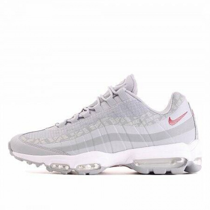 Кроссовки Nike AIR MAX 95 ULTRA (Цвет Wolf Grey-Red Crush-Ashen Slate-White)