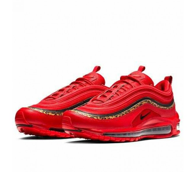 Кроссовки Nike AIR MAX 97 (Цвет University Red-Black-Print)