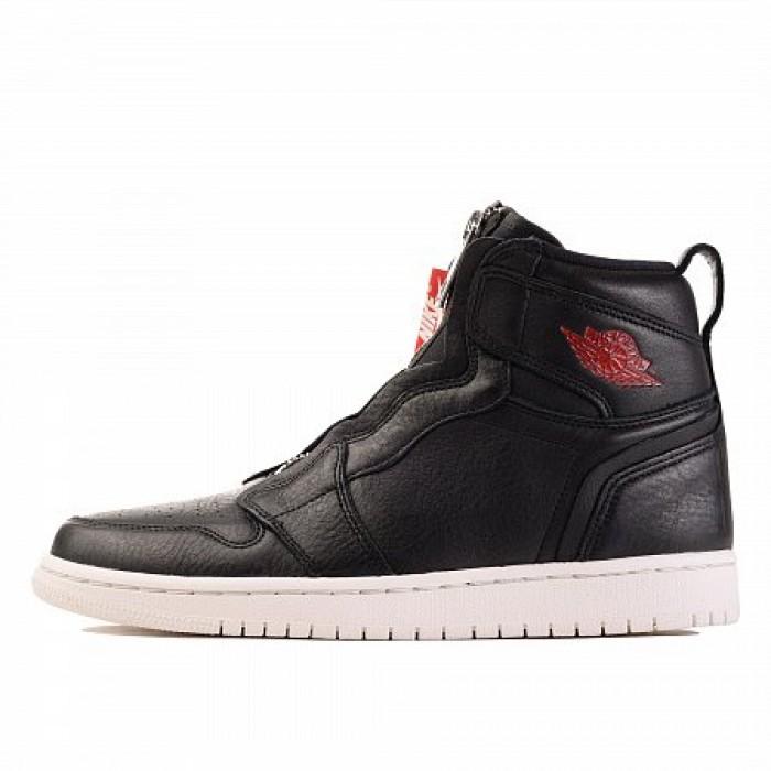 Кроссовки Jordan AIR JORDAN 1 HIGH ZIP PREMIUM (Цвет Black-Gym Red-Phantom)