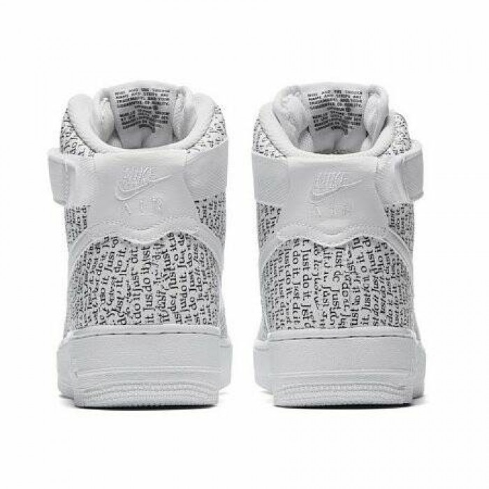 "Кроссовки Nike AIR FORCE 1 HIGH LUX ""JUST DO IT"" PACK (Цвет White-Black)"