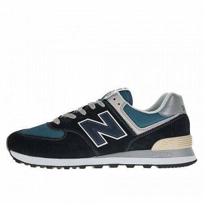 Кроссовки New Balance 574 (Цвет Blue-Begie-White)