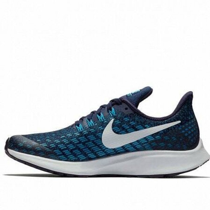 Кроссовки Nike AIR ZOOM PEGASUS 35 (Цвет Blackened Blue-Pure Platinum-Blue Hero)