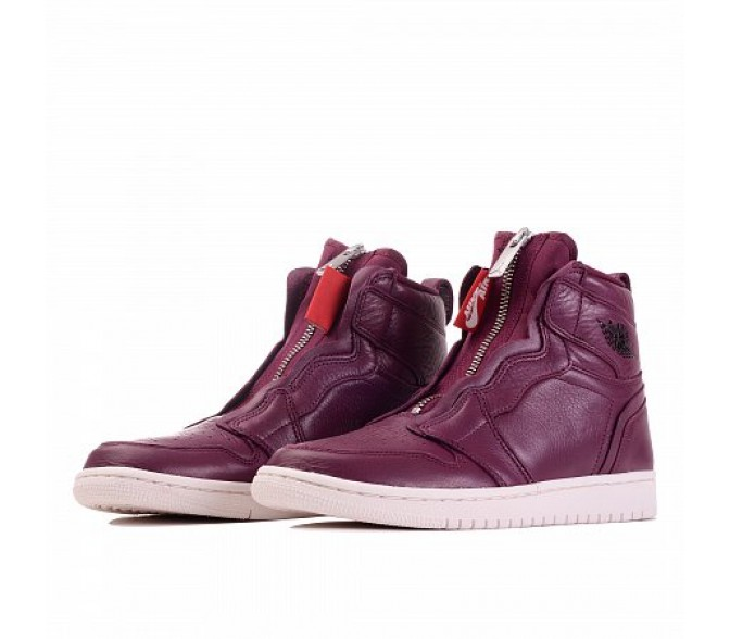 Кроссовки Jordan AIR JORDAN 1 HIGH ZIP PREMIUM (Цвет Bordeaux-Black-Phantom)