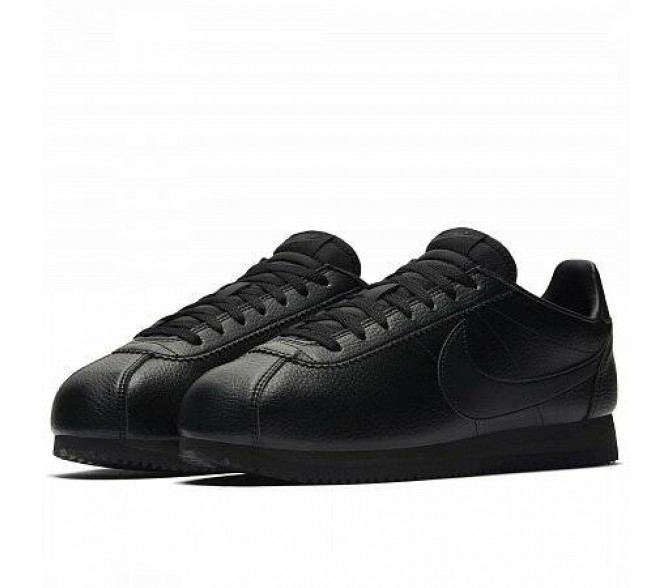 Кроссовки Nike CLASSIC CORTEZ LEATHER (Цвет Black-Black-Anthracite)
