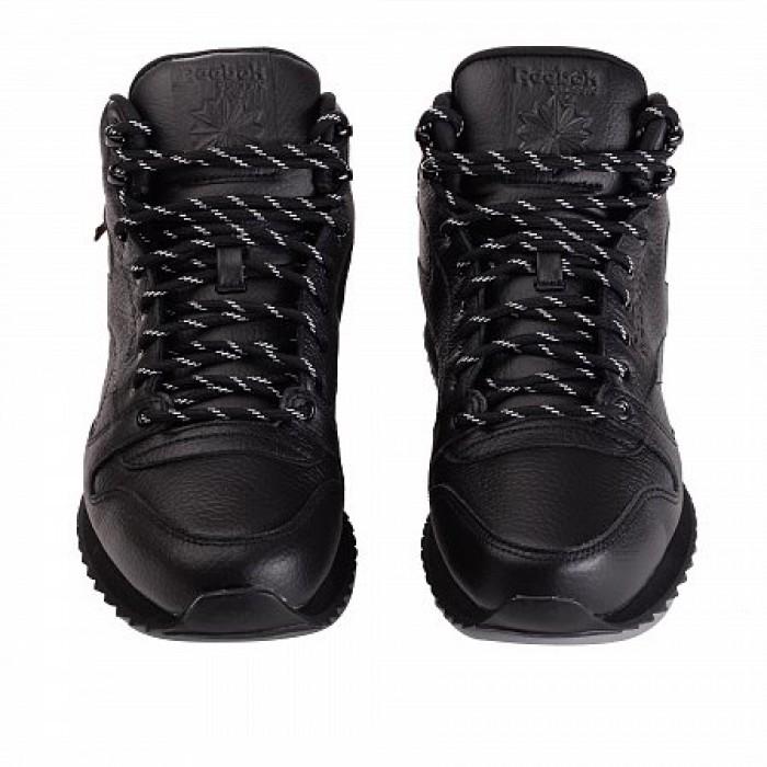 Ботинки Reebok Classic CLASSIC LEATHER MID RIPPLE (Цвет Black)