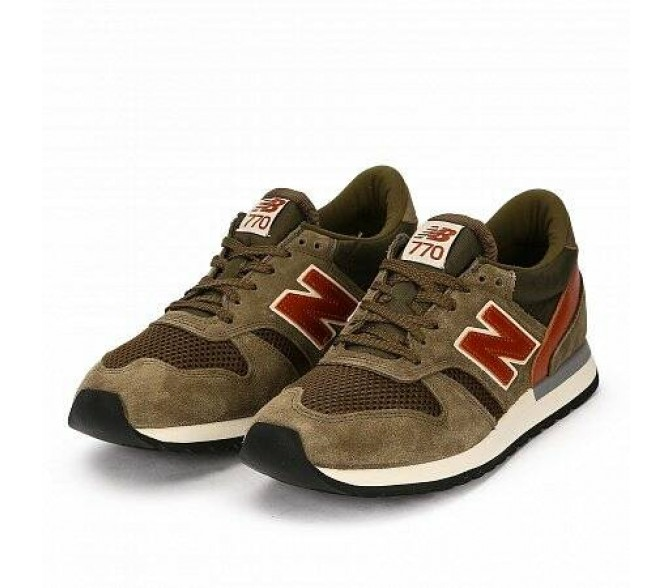 Кроссовки New Balance 770 MADE IN UK (Цвет Brown-Red)