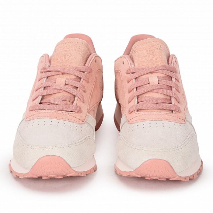 Кроссовки Reebok Classic CLASSIC LEATHER NBK (Цвет Pink-White)