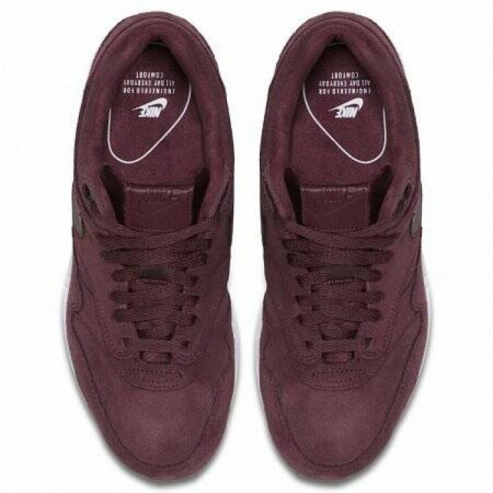Кроссовки Nike AIR MAX 1 SE (Цвет Burgundy Crush-White)