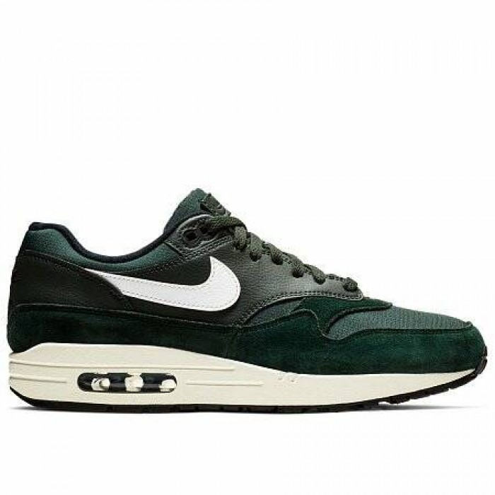 Кроссовки Nike AIR MAX 1 (Цвет Outdoor Green-Sail-Black)