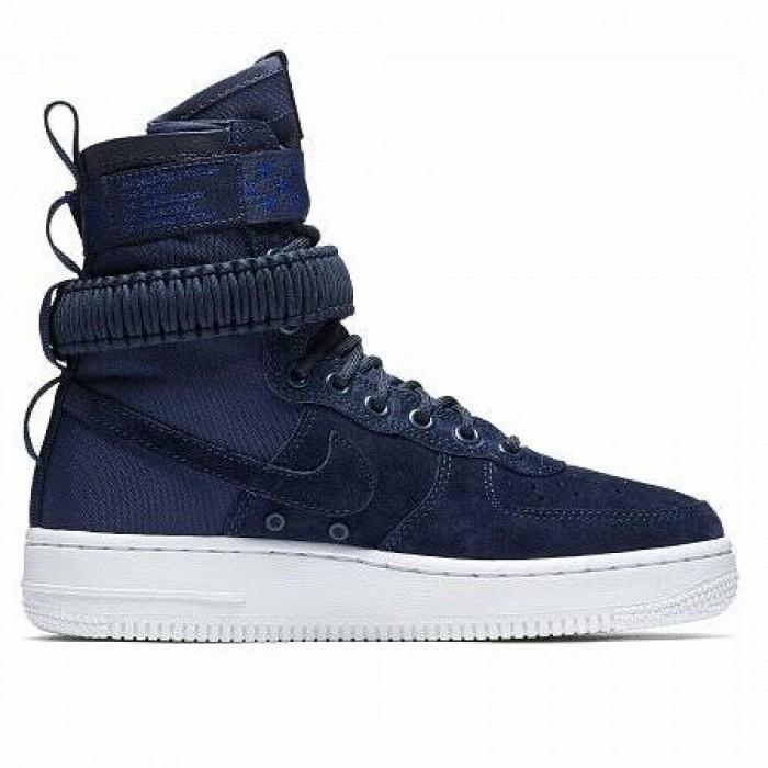 Кроссовки Nike SF AIR FORCE 1 (Цвет Midnight Navy-Midnight Navy-White)