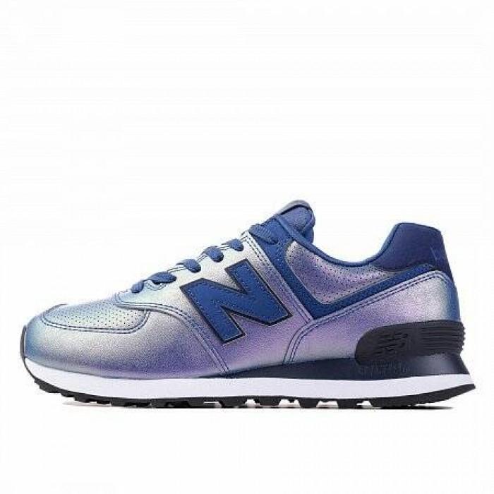 Кроссовки New Balance 574 (Цвет Blue Metall)