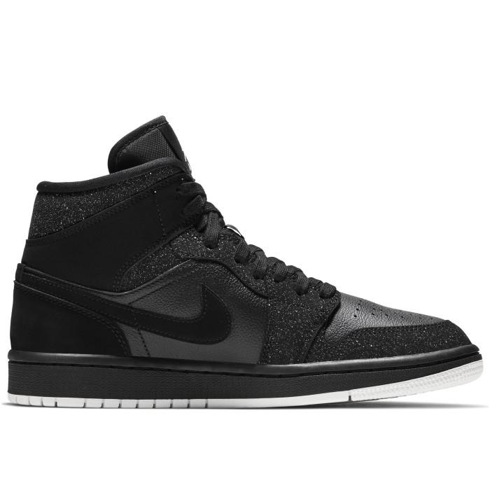 Кроссовки Jordan AIR JORDAN 1 MID (Цвет Black-Phantom-White )
