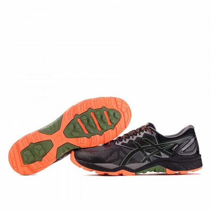 Кроссовки ASICS GEL-FUJI TRABUCO 6 GORE-TEX (Цвет Black-Green-Orange)