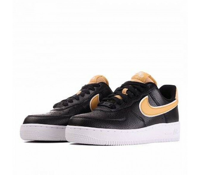 Кроссовки Nike AIR FORCE 1 '07 SE (Цвет Black-Wheat Gold)