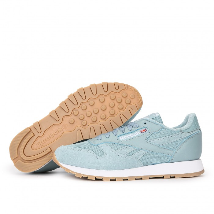 Кроссовки Reebok Classic CLASSIC LEATHER MU (Цвет Blue)